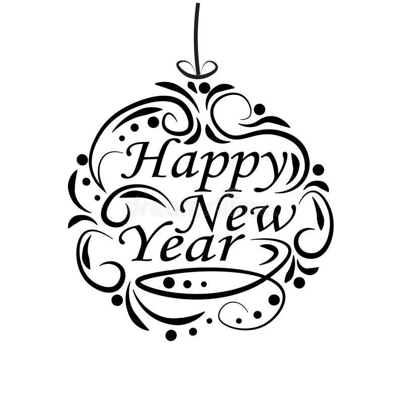 圣诞节,明信片的新年欢乐标签 祝愿一新年好 皇族释放例证