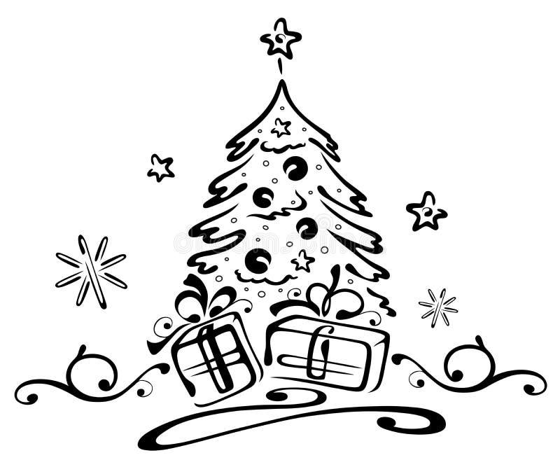 圣诞节,树,礼物 向量例证 插画 包括有 圣诞节,树,礼物  33939486