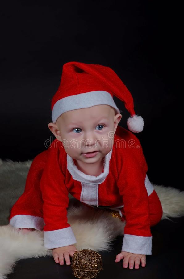圣诞节婴孩3 免版税库存图片