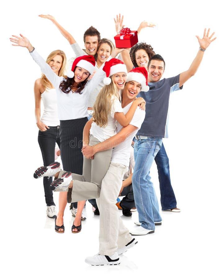 圣诞节组愉快的人员 库存照片