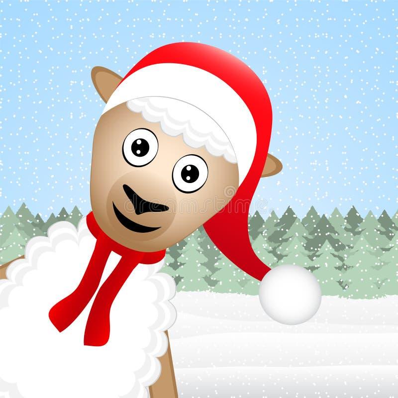 圣诞节绵羊 向量例证