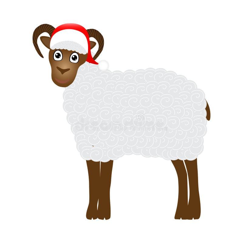 圣诞节绵羊 库存例证