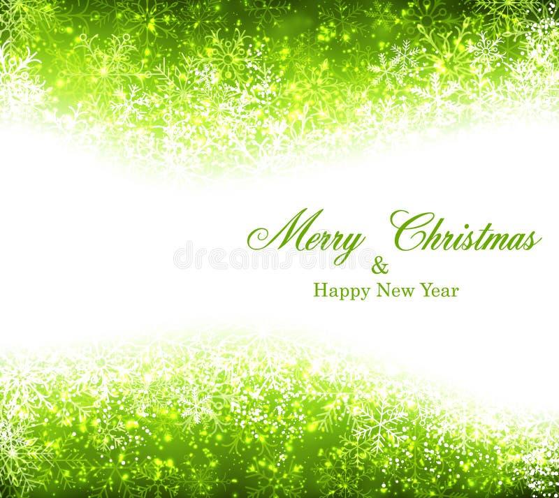 圣诞节绿色抽象背景 库存例证