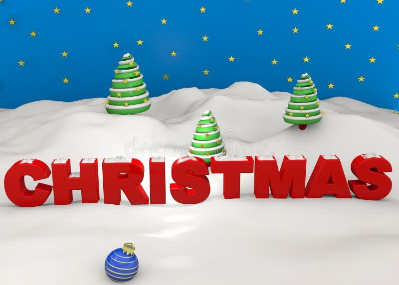 圣诞节- 3D 皇族释放例证