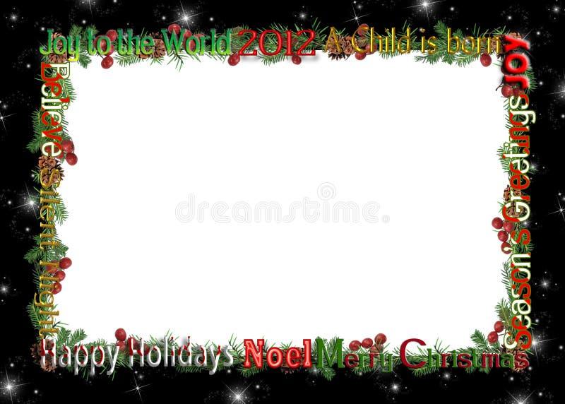 圣诞节2012框架 向量例证