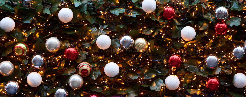 圣诞节backgrond机智光和圣诞树 免版税库存照片