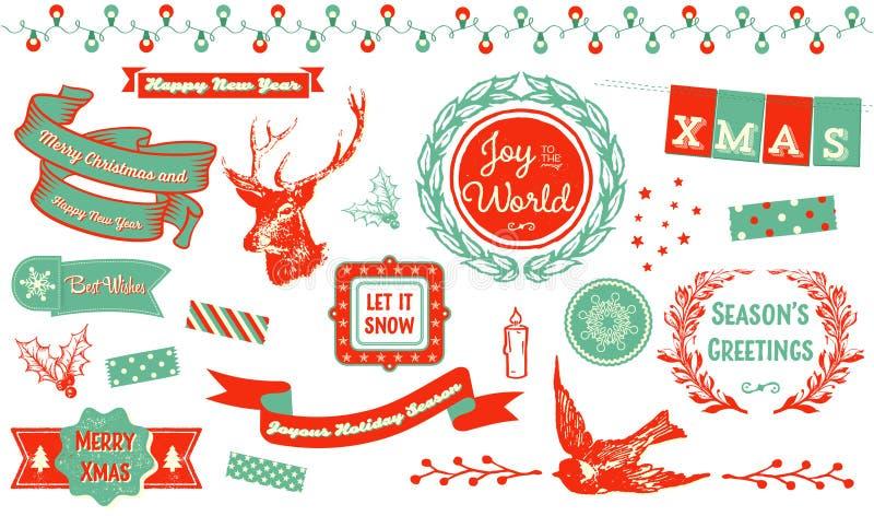 圣诞节Clipart 向量例证