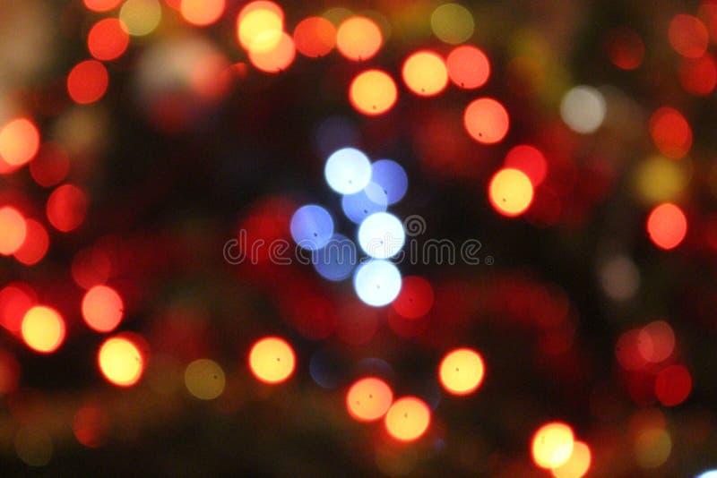 圣诞节defocused光背景 库存图片