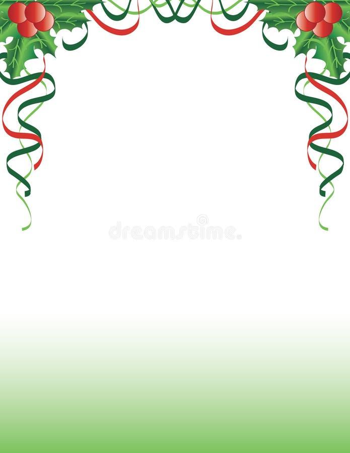 8圣诞节eps在向量白色的霍莉例证 图库摄影