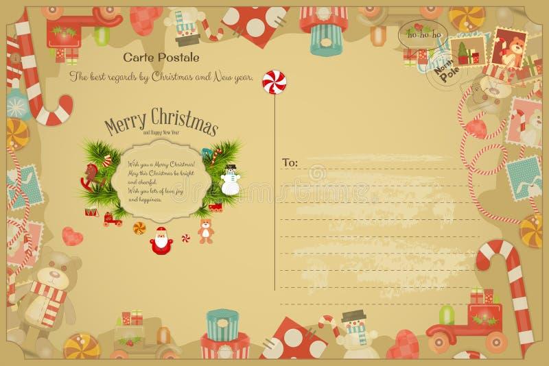 圣诞节eps10例证明信片向量 向量例证