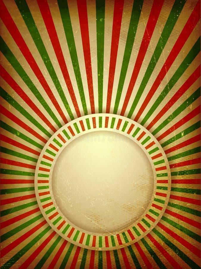 圣诞节grunge光线背景 向量例证