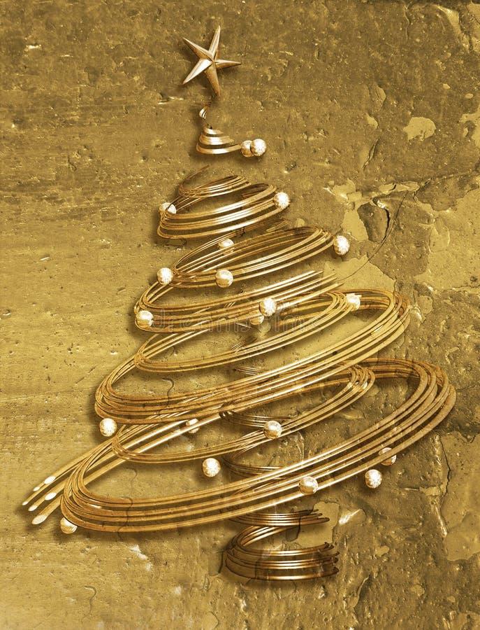 圣诞节grunge结构树 库存例证