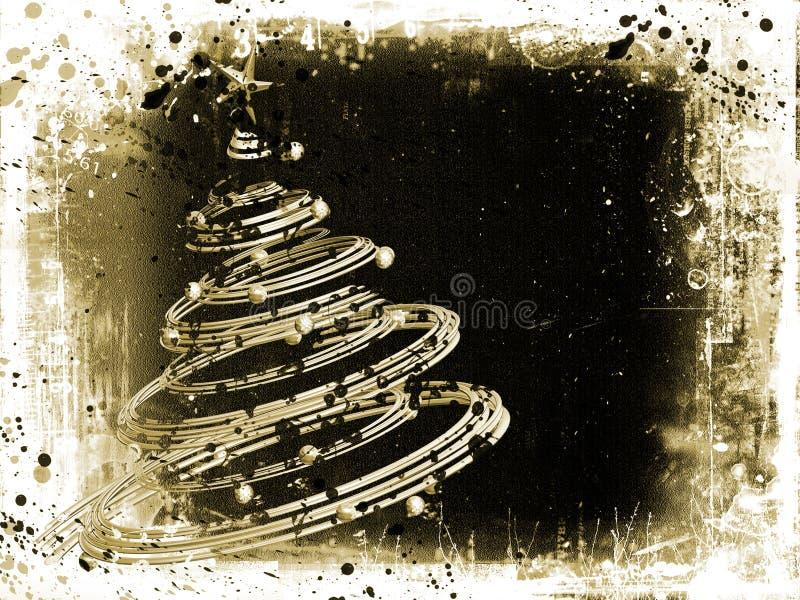 圣诞节grunge 库存例证