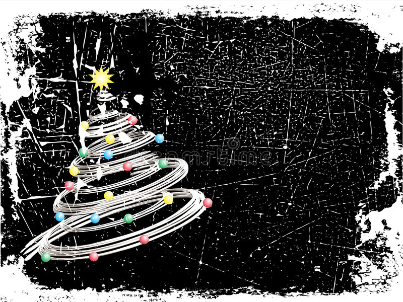 圣诞节grunge 向量例证