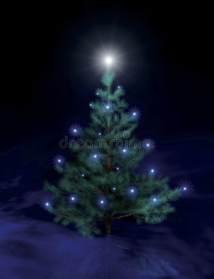 圣诞节ii结构树 向量例证