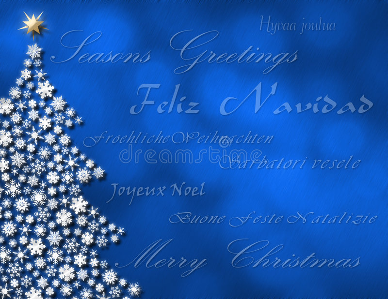 圣诞节lanuages快活的多个 库存例证