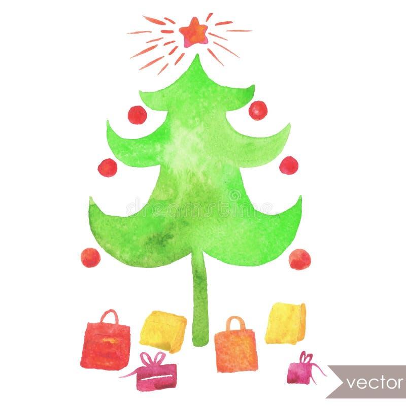 圣诞节Tree.â关闭圣诞树 库存照片