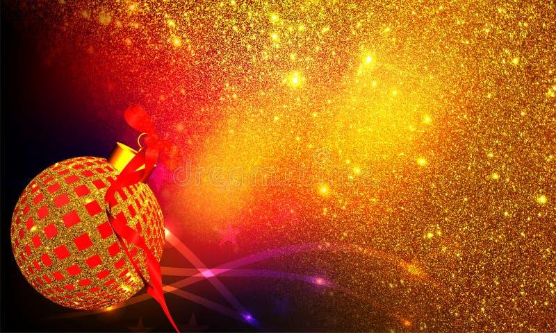 圣诞装饰有纹理和光线影响背景 库存图片