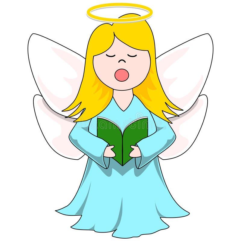 圣诞颂歌天使 库存例证