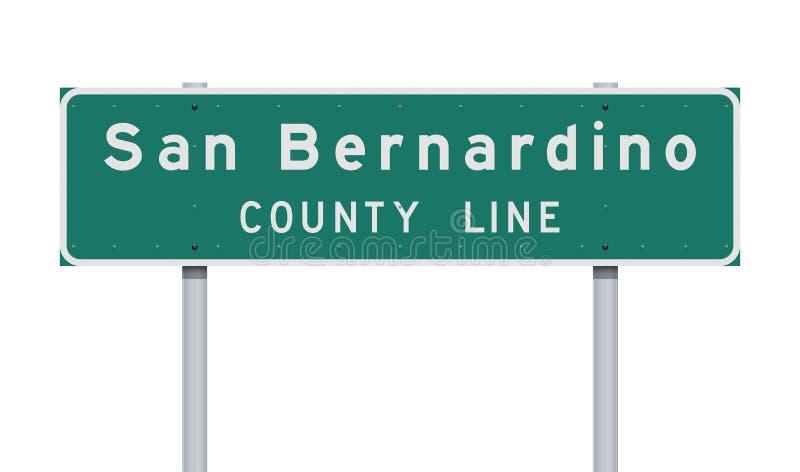 圣贝纳迪诺县线路标 库存照片