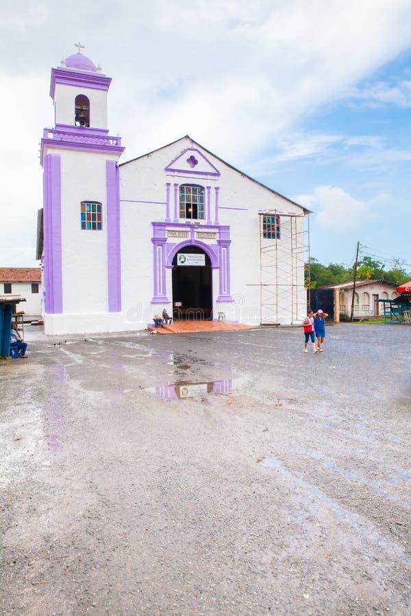 圣费利佩教会Portobelo巴拿马 免版税库存照片