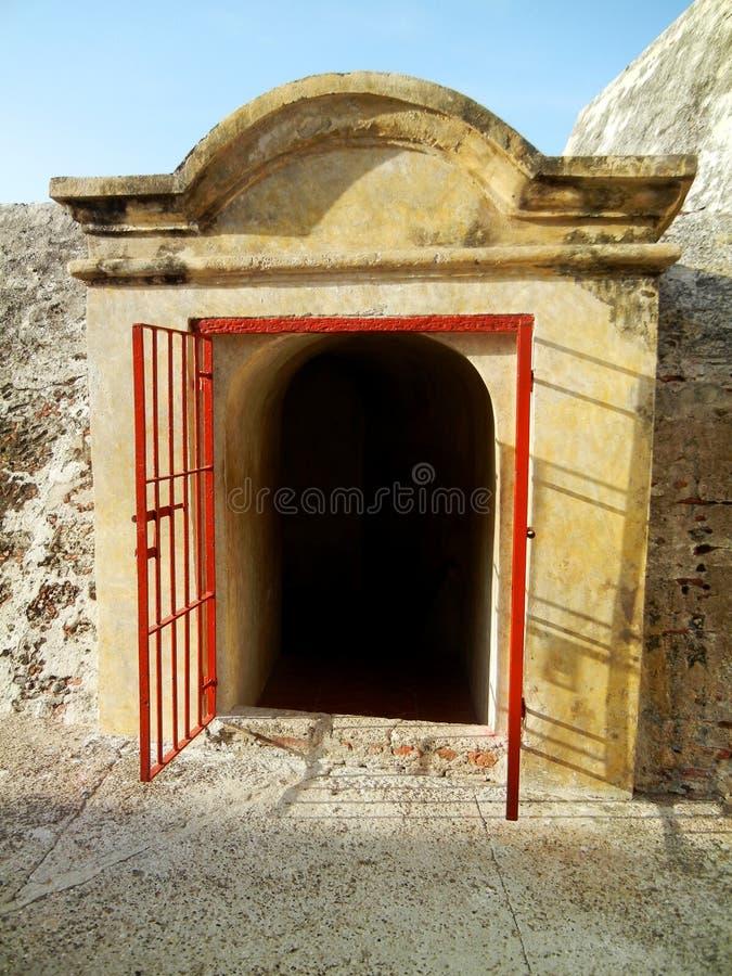 圣费利佩de巴拉哈斯,卡塔赫钠哥伦比亚城堡  库存图片