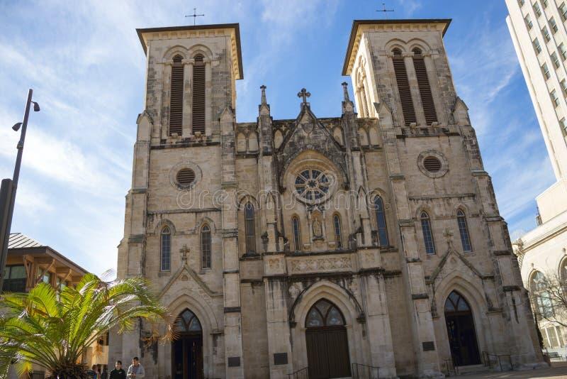 圣费尔南多大教堂在圣安东尼奥得克萨斯 免版税库存图片