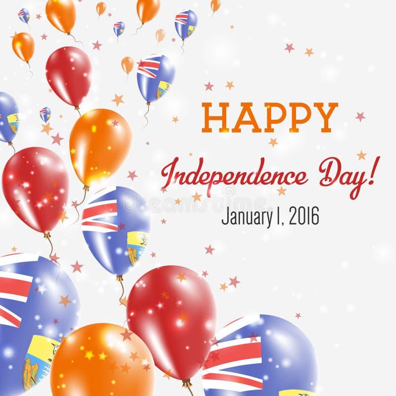 圣赫勒拿岛美国独立日贺卡 库存例证