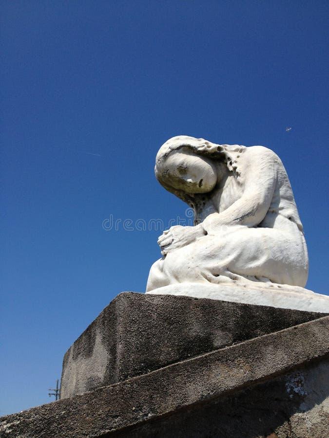 圣路易公墓,新奥尔良天使  免版税库存照片