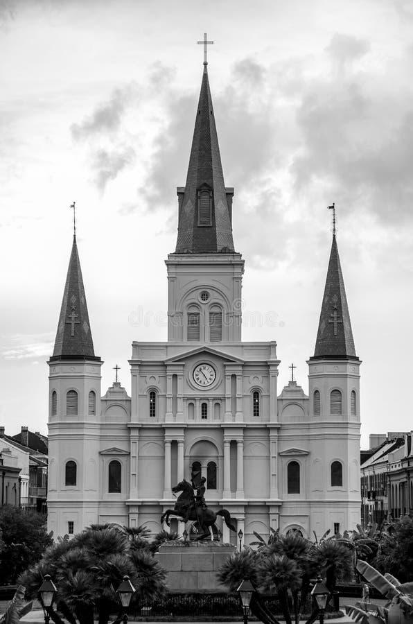 圣路易大教堂新奥尔良 库存图片