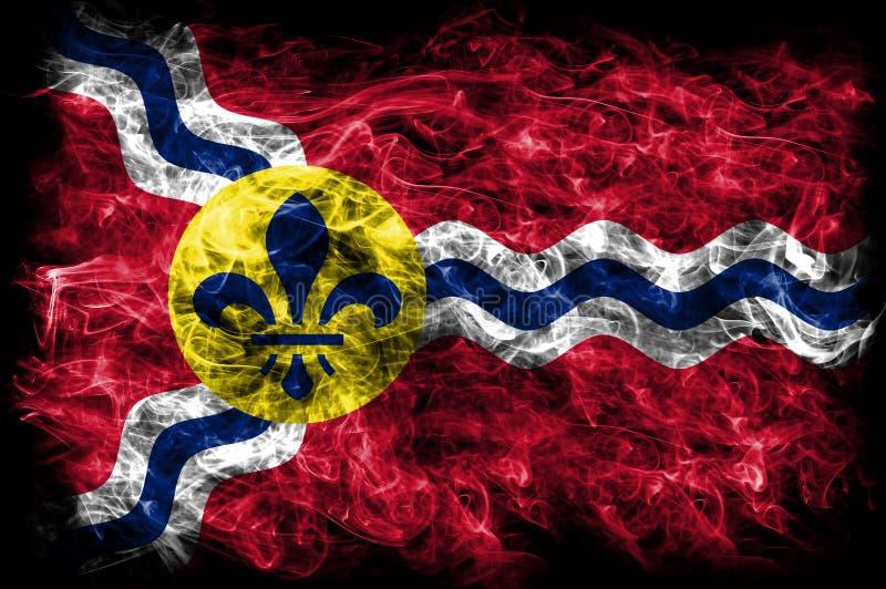 圣路易市烟旗子,密苏里状态,上午美国  免版税库存照片