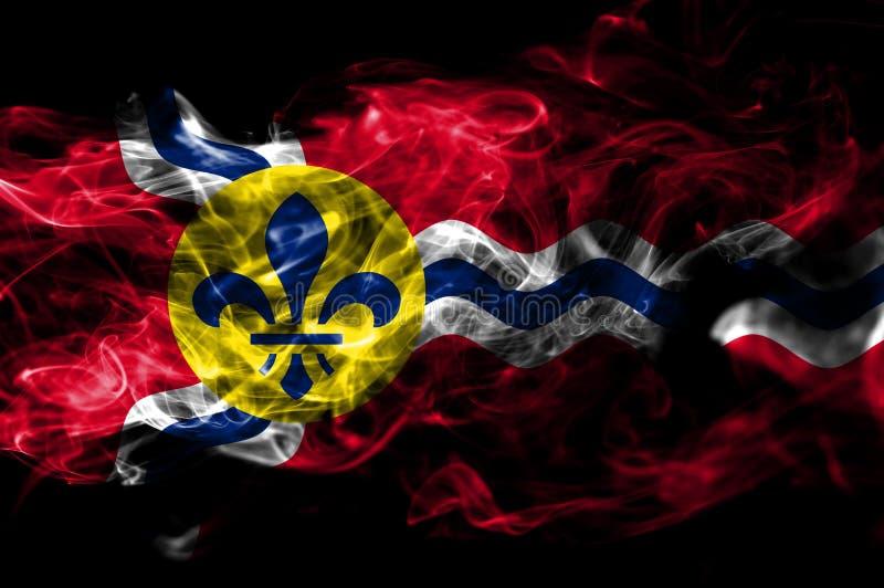 圣路易市烟旗子,密苏里状态,上午美国  库存例证