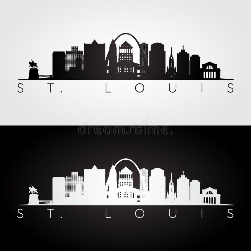 圣路易斯地平线剪影 图库摄影