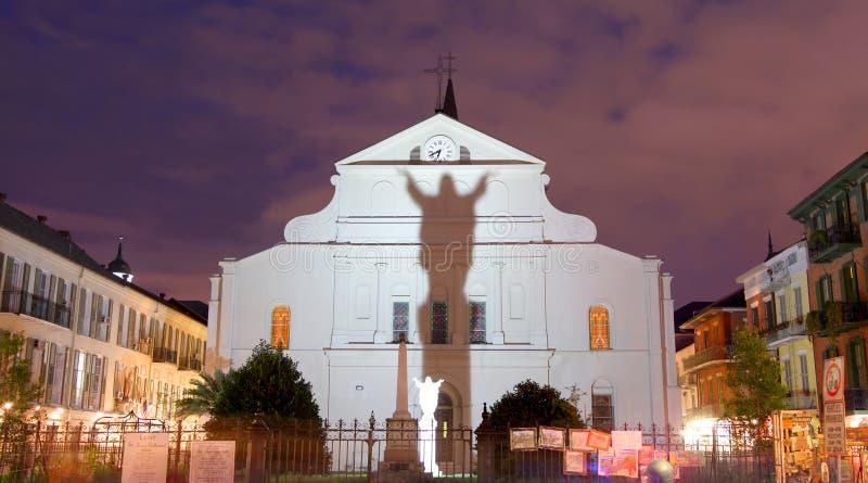 圣路易斯大教堂在Lousiana 免版税库存照片