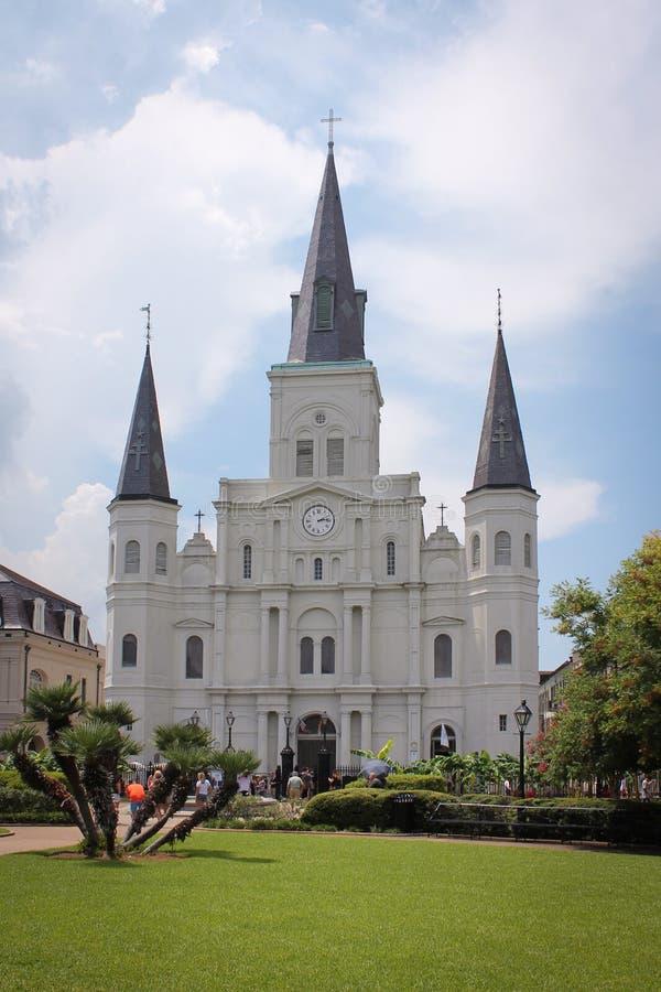 圣路易斯大教堂看法  免版税库存照片