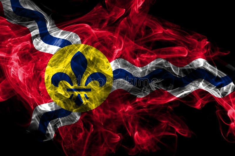圣路易斯市烟旗子,密苏里州,美国 库存例证