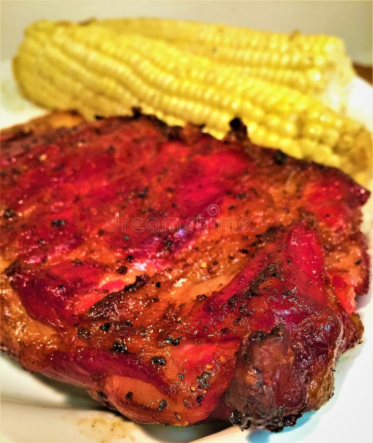 圣路易斯抽了猪肉排骨 免版税库存图片