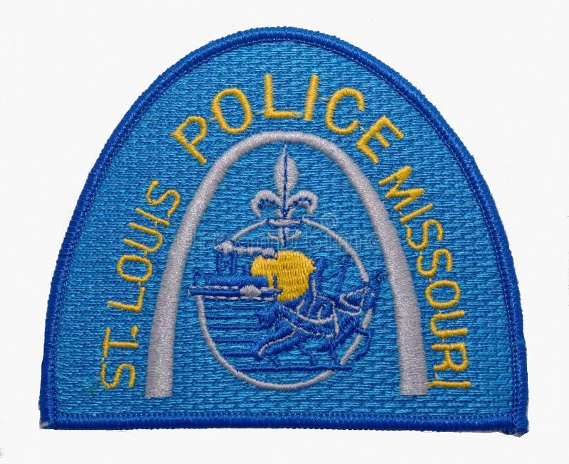 圣路易斯警察局的肩章在密苏里 库存照片
