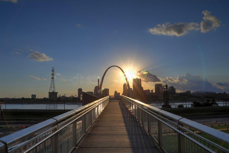 圣路易斯,密苏里地平线 库存图片