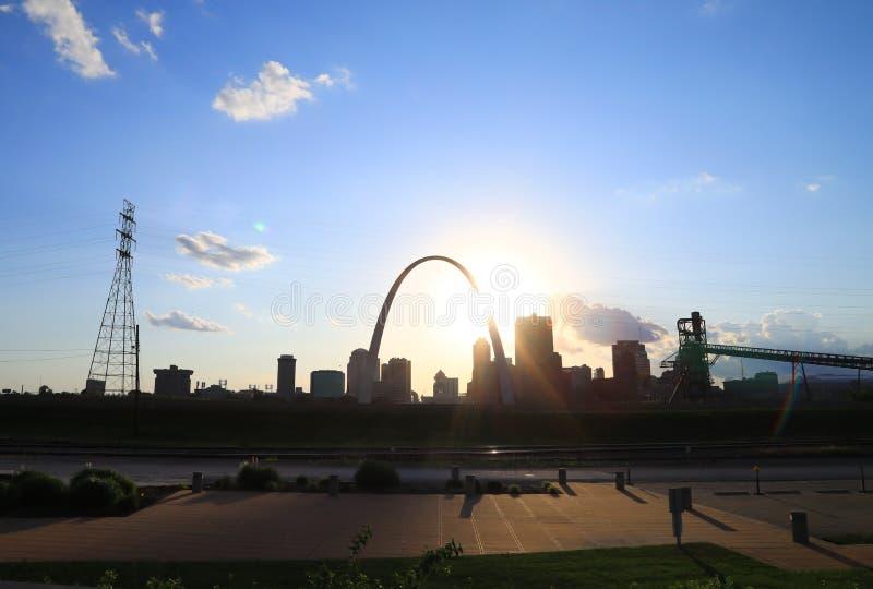 圣路易斯,密苏里地平线 免版税图库摄影