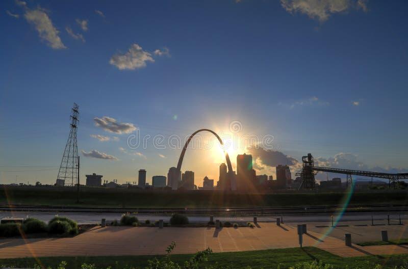 圣路易斯,密苏里地平线 库存照片