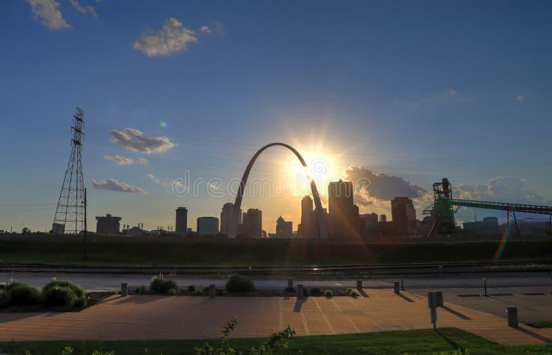 圣路易斯,密苏里地平线 免版税库存照片