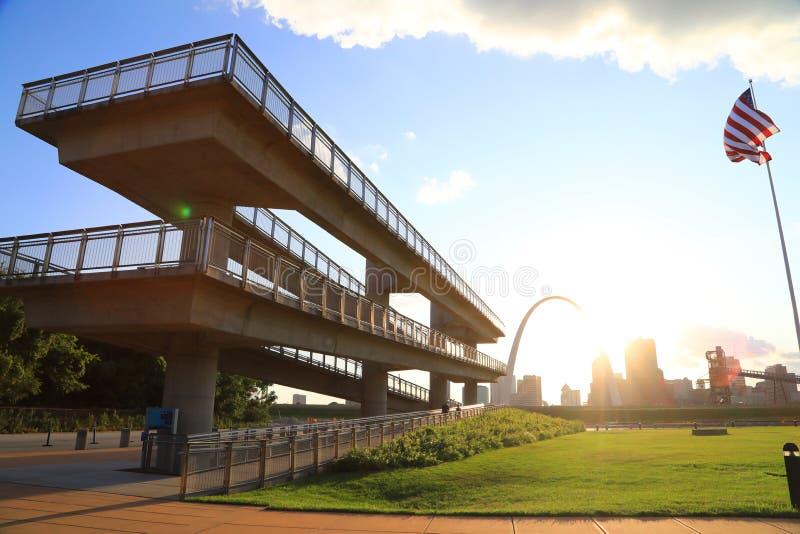 圣路易斯,密苏里地平线 免版税库存图片