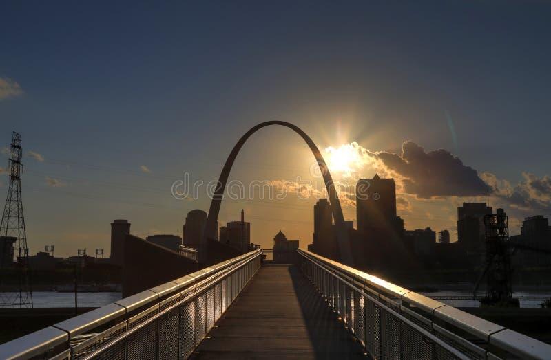 圣路易斯,密苏里地平线 图库摄影