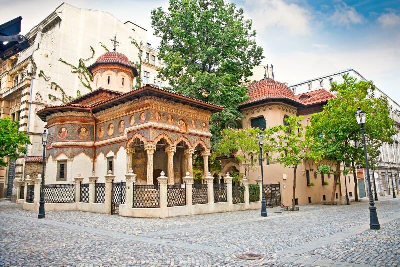 圣迈克尔和加百利教会在布加勒斯特,罗马尼亚。 图库摄影