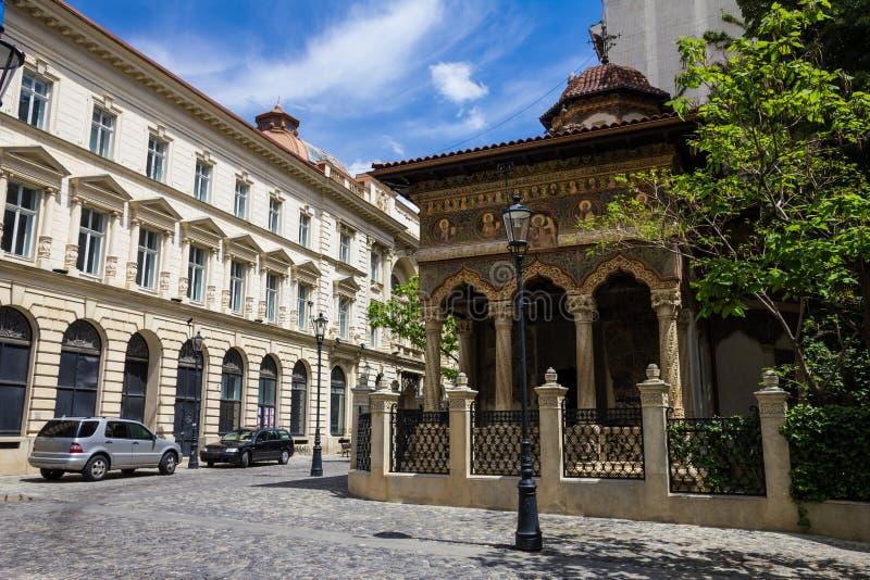 圣迈克尔和加百利教会在布加勒斯特,罗马尼亚 免版税库存照片