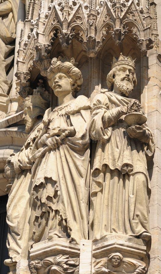 圣迈克尔和圣Gudula大教堂  库存图片