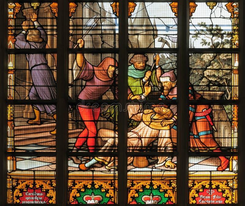 圣迈克尔和圣Gudula大教堂 图库摄影