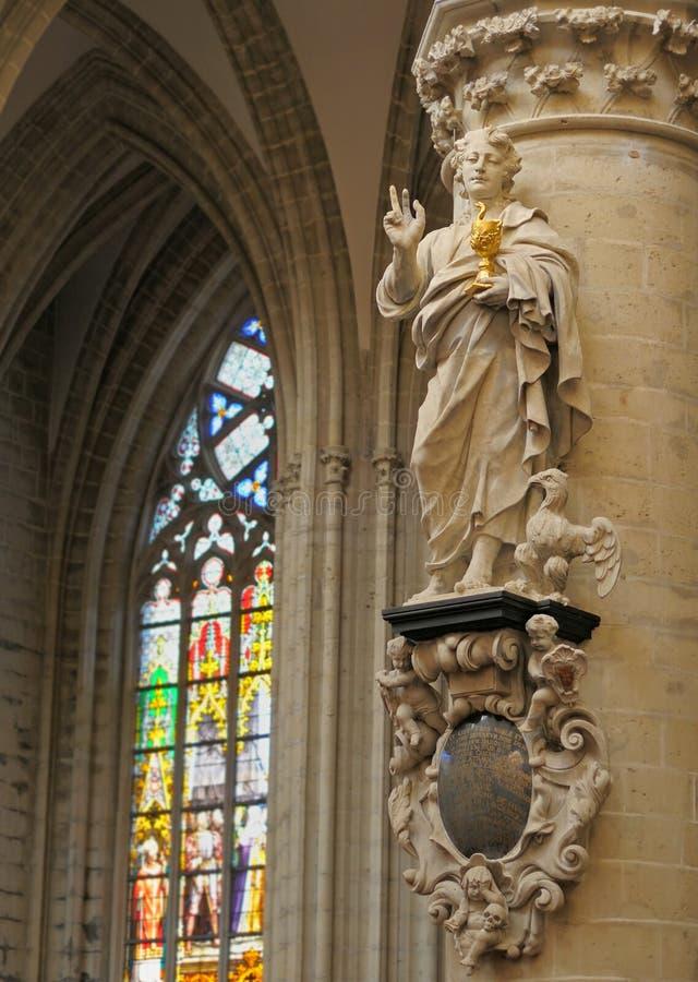 圣迈克尔和圣Gudula大教堂 免版税图库摄影
