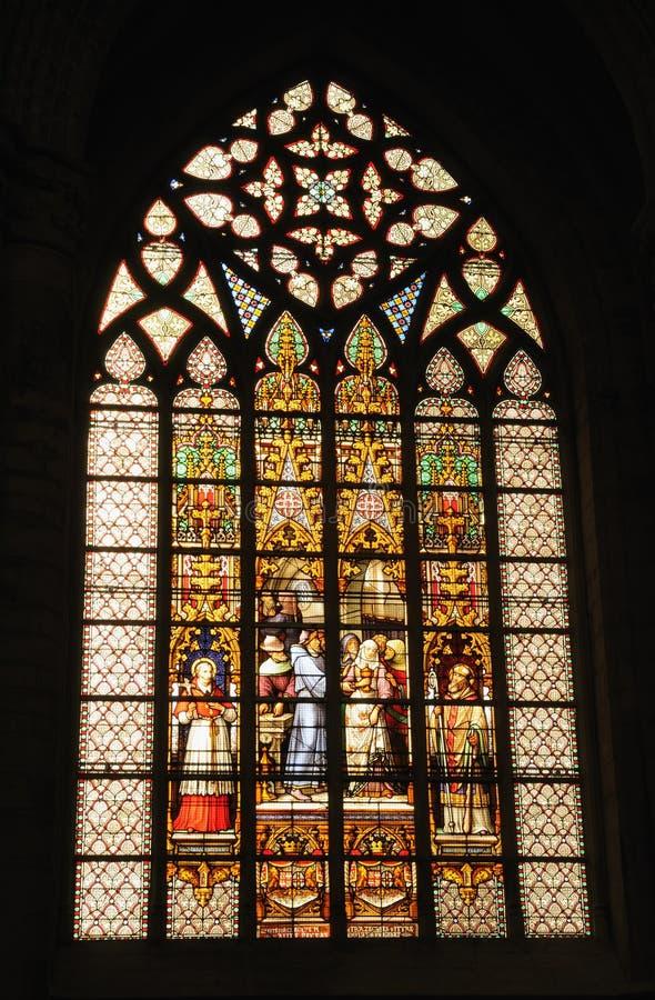 圣迈克尔和圣Gudula大教堂  免版税库存图片